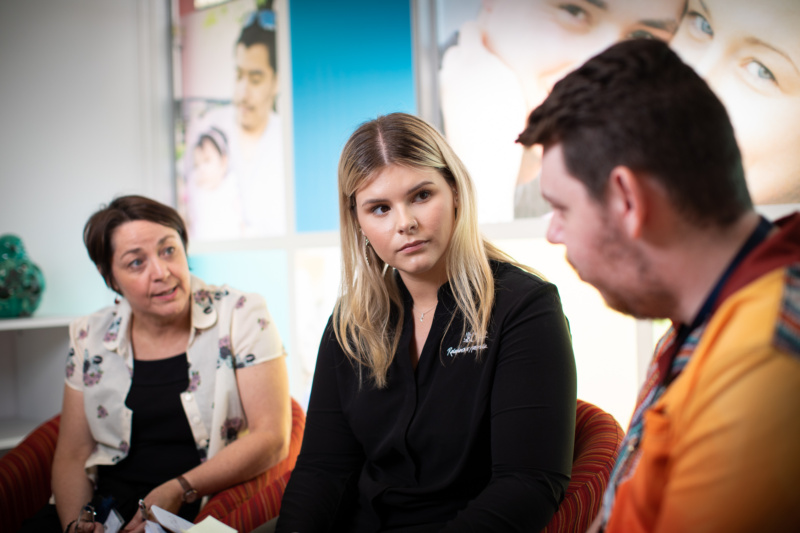 Jazmyn, a client support office at Relationships Australia